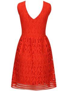 Červené čipkované šaty VERO MODA New Exclusive
