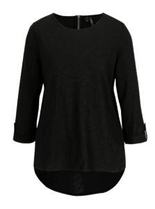 Čierne tričko s 3/4 rukávom VERO MODA Malka