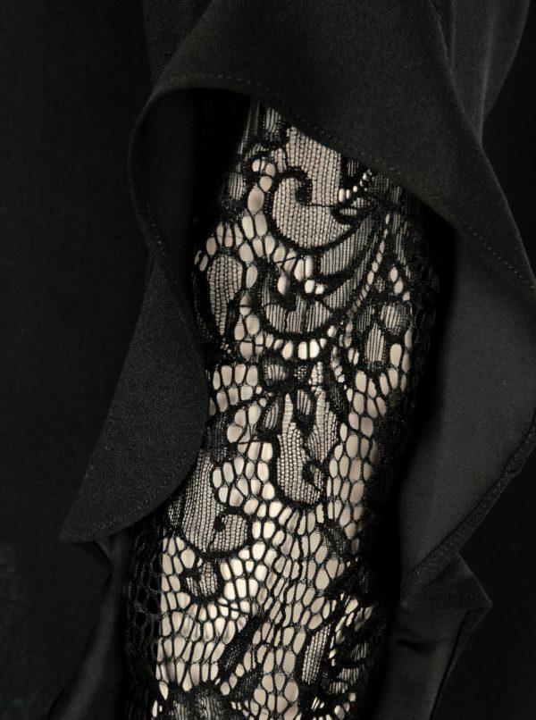 Čierna blúzka s čipkou na predlaktí Dorothy Perkins