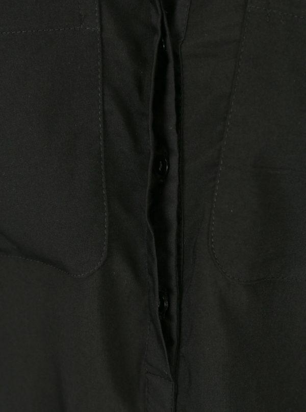 Čierna priesvitná blúzka bez rukávov VERO MODA Erika