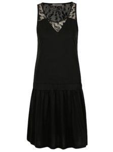 Čierne šaty s čipkou na chrbte Cars Louisia