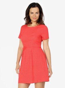 Červené bodkované šaty ONLY Laura