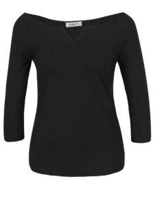 Čierne tričko s 3/4 rukávom Haily's Racheline