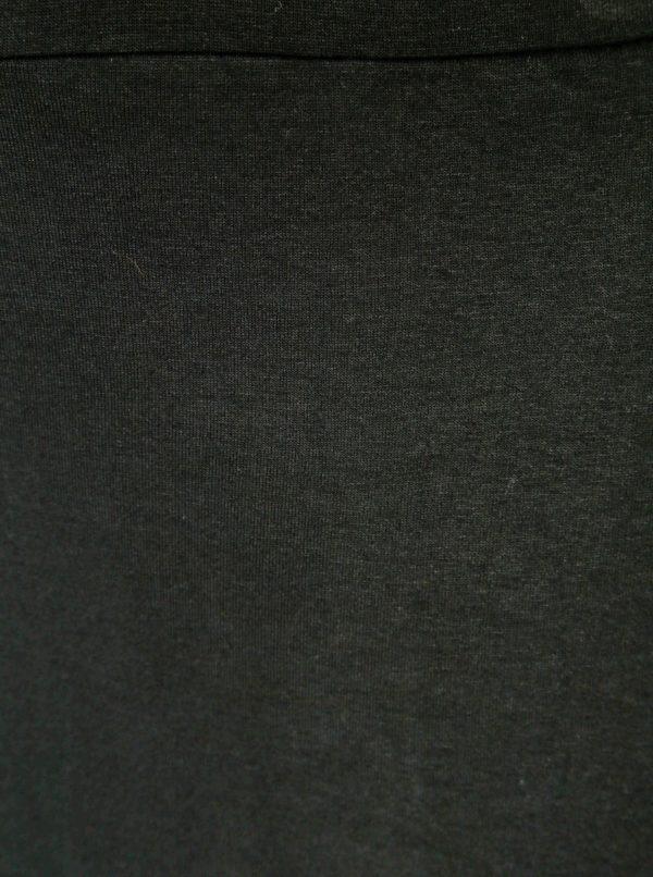 Čierna maxisukňa s rozparkami Dorothy Perkins Curve