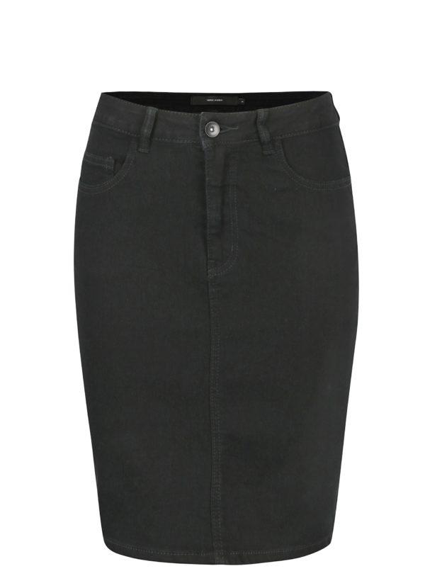 Čierna rifľová sukňa VERO MODA Hot
