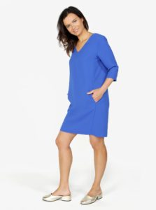 Modré šaty s vreckami Selected Femme Tunni