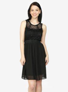 Čierne šaty s čipkou Haily´s Sarah