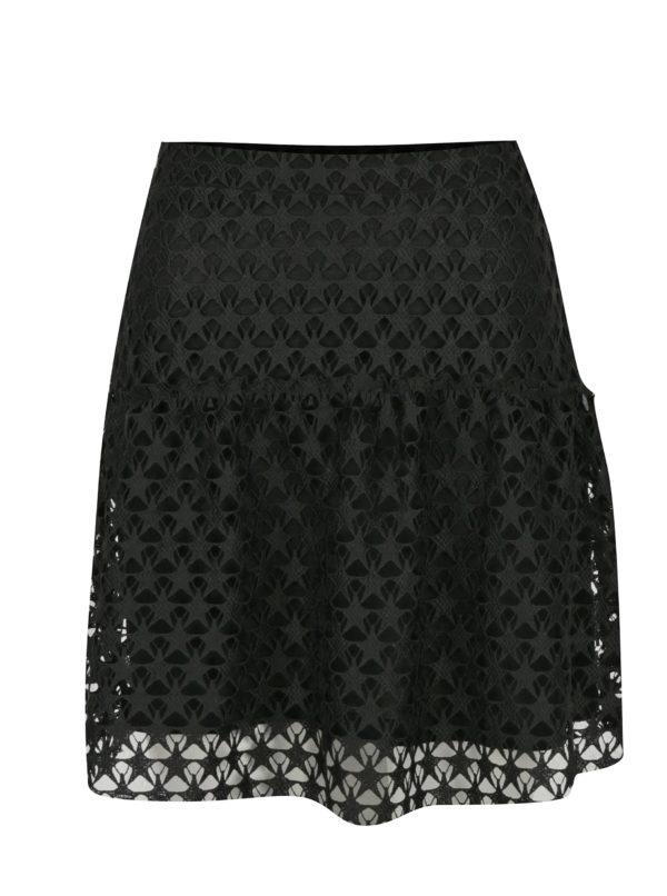 Čierna čipkovaná sukňa Rich & Royal