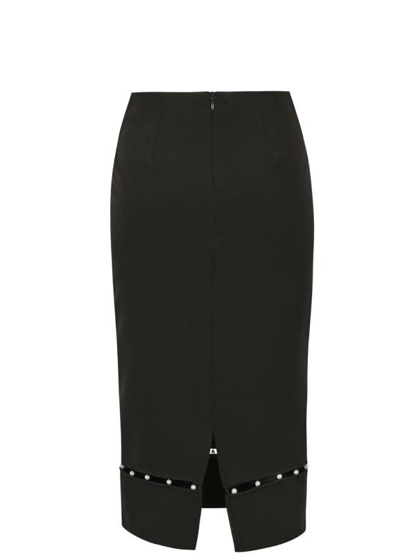 Čierna puzdrová sukňa s korálkami Dorothy Perkins