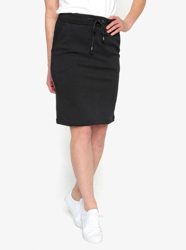 Čierna sukňa s pružným pásom Selected Femme Sadie
