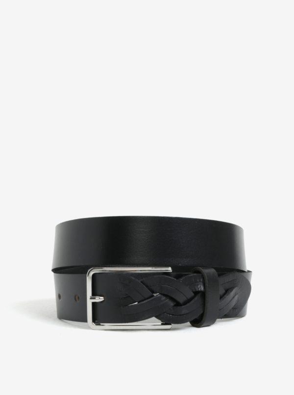 Čierny kožený opasok Pieces Ginnifer
