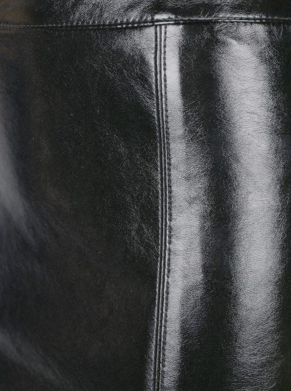 Čierna koženková puzdrová sukňa ONLY Ann