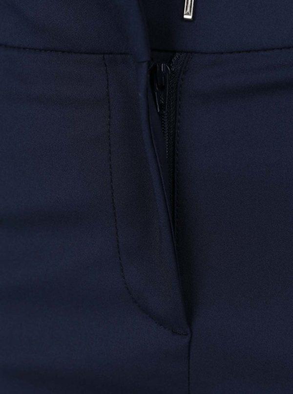 Tmavomodré nohavice s vreckami VERO MODA Victoria