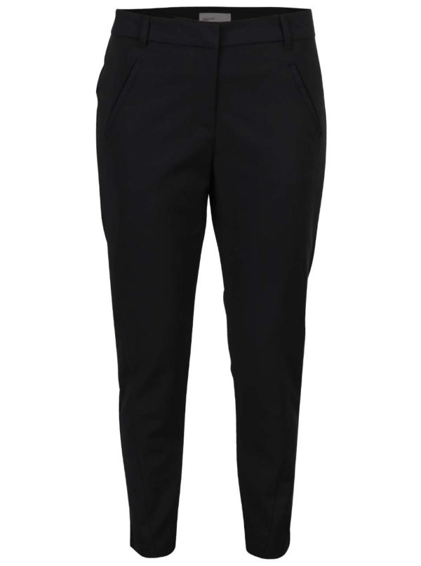Čierne nohavice s vreckami VERO MODA Victoria