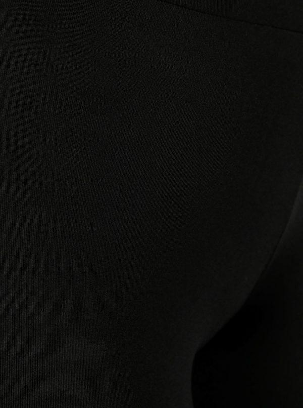 Čierne legíny s priehľadnými detailmi ONLY Da
