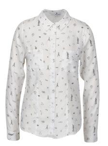 Biela vzorovaná košeľa TALLY WEiJL