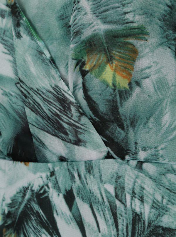 Zelené vzorované maxišaty Smashed Lemon