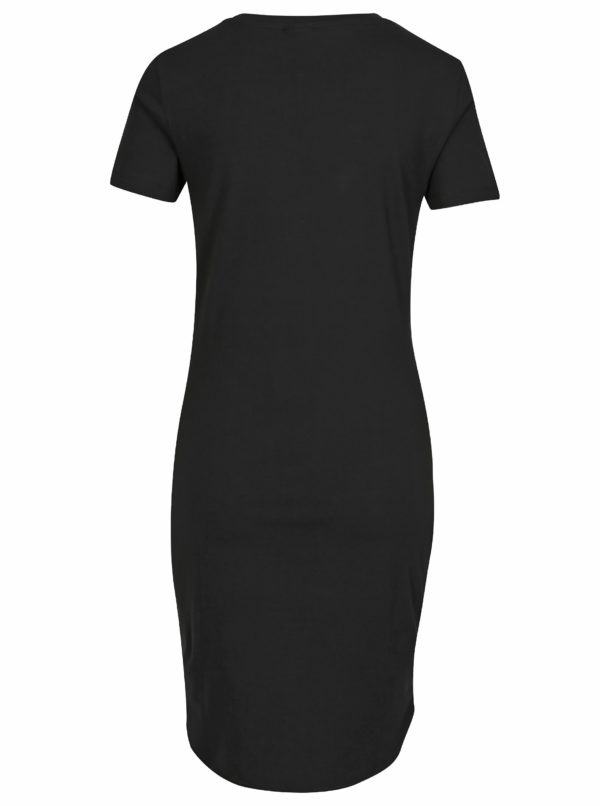 Čierne šaty s krátkym rukávom Noisy May Summer