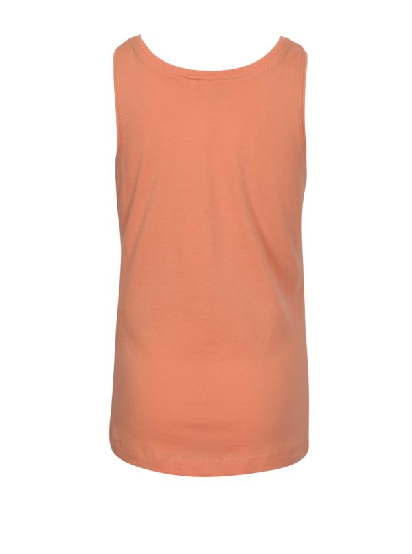 Oranžové dievčenské tielko s potlačou name it Veen