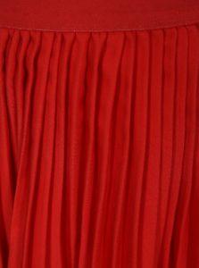Červená dievčenská plisovaná sukňa name it Kiss