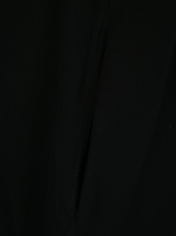 Čierne balónové šaty s potlačou a vreckami Mikela da Luka