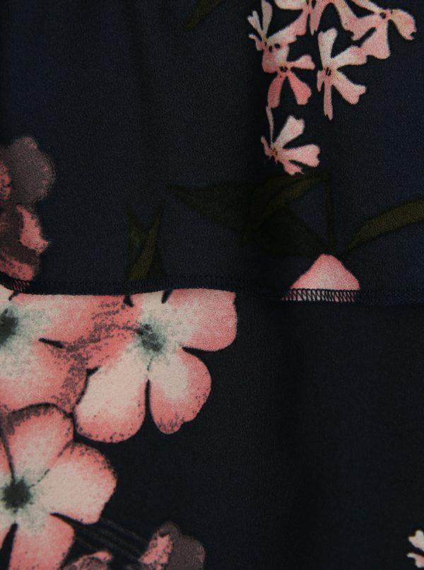 Tmavomodrá kvetovaná dievčenská blúzka LIMITED by name it Sanja