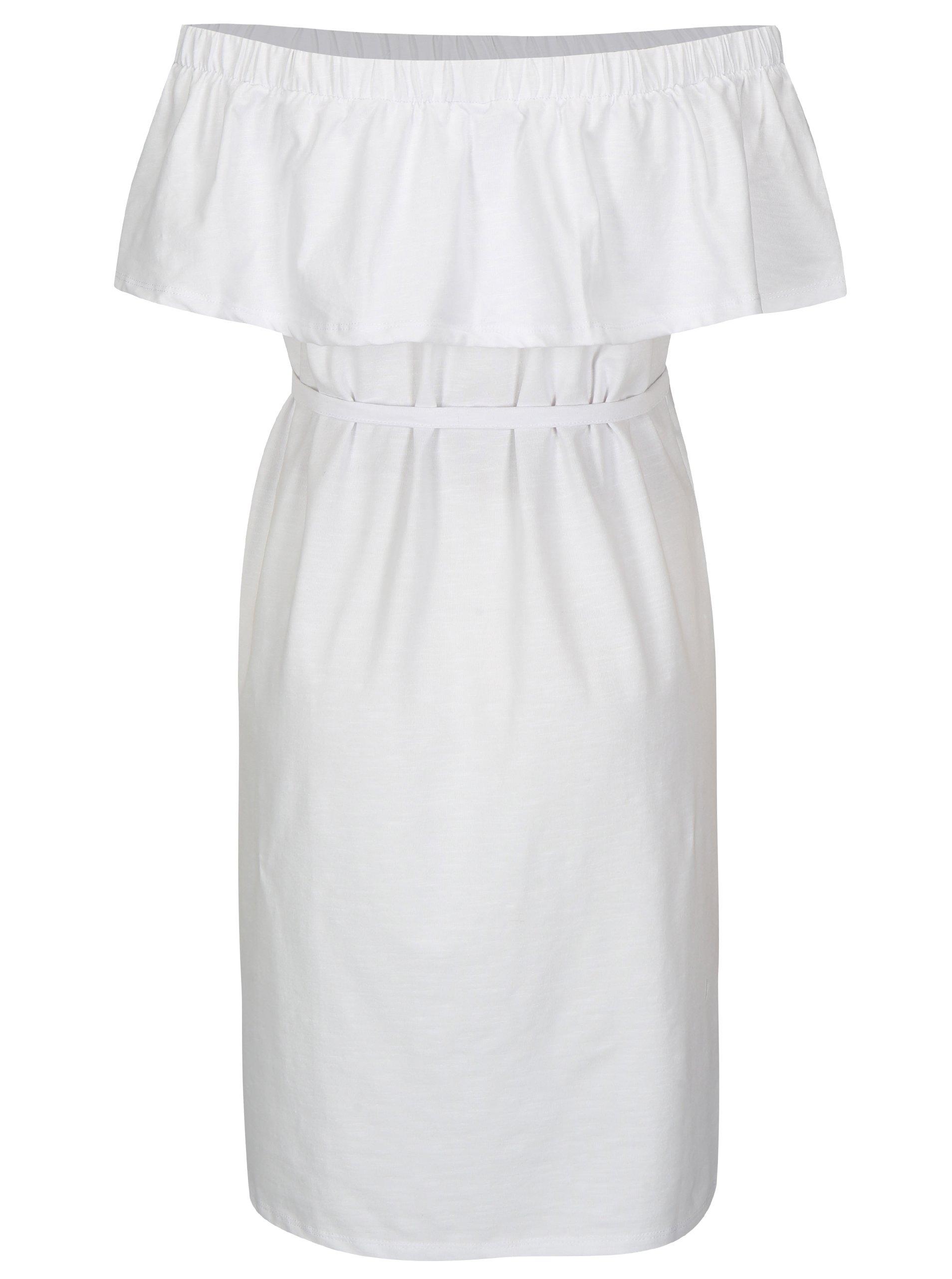 67ba885efb2d Biele tehotenské šaty s odhalenými ramenami Mama.licious Heart