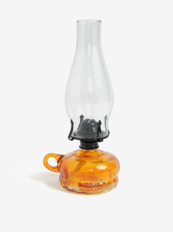 Oranžová transparentná petrolejová lampa Dakls