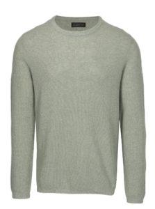 Svetlozelený melírovaný sveter s prímesou ľanu Jack & Jones Originals Orlito