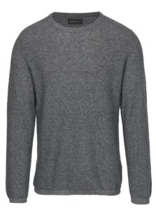 Tmavomodrý melírovaný sveter s prímesou ľanu Jack & Jones Originals Orlito