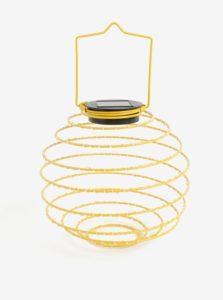 Žltá LED solárna dekorácia Kaemingk