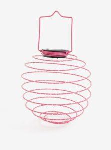 Ružová LED solárna dekorácia Kaemingk
