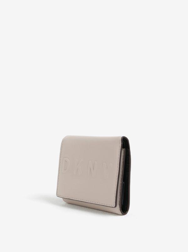 Béžová malá peňaženka DKNY Trifold