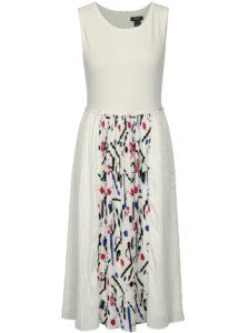 Biele šaty s plisovanou sukňou DKNY