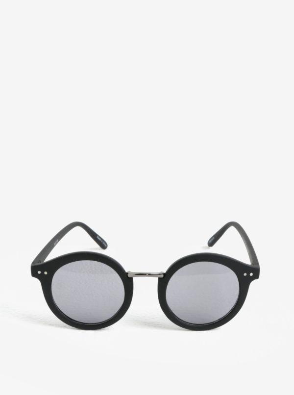 Čierne okrúhle slnečné okuliare Pieces Ino
