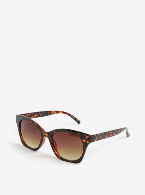 Hnedé vzorované slnečné okuliare Pieces Inka