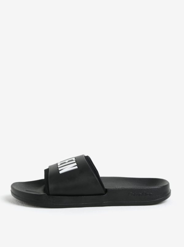 Čierne unisex šľapky Calvin Klein
