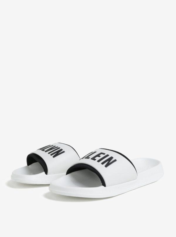 Biele unisex šľapky Calvin Klein