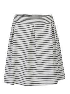 Čierno-biela pruhovaná áčková sukňa Jacqueline de Yong Catia