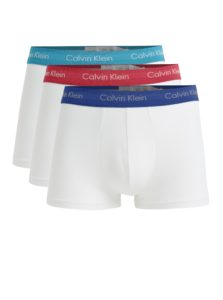 Súprava troch boxeriek v bielej farbe Calvin Klein