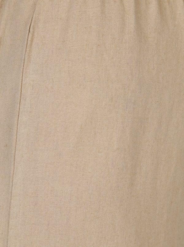 Béžové culottes s opaskom ONLY Juliet