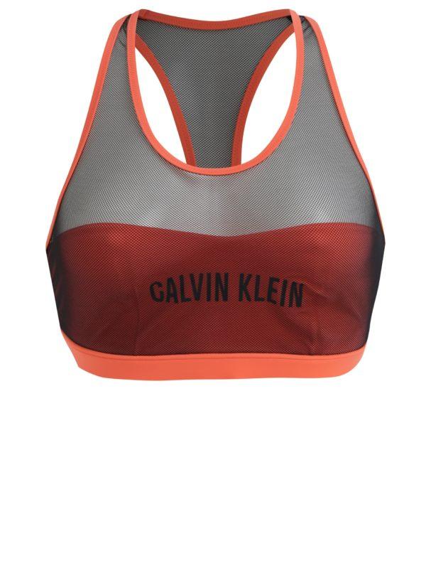 Neónovoružový horný diel plaviek Calvin Klein Underwear