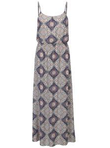 Modro-krémové vzorované šaty ONLY Nova