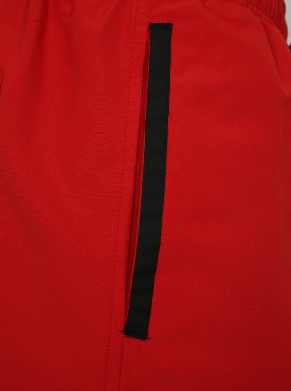 Červené pánske plavky s gumou v páse Calvin Klein