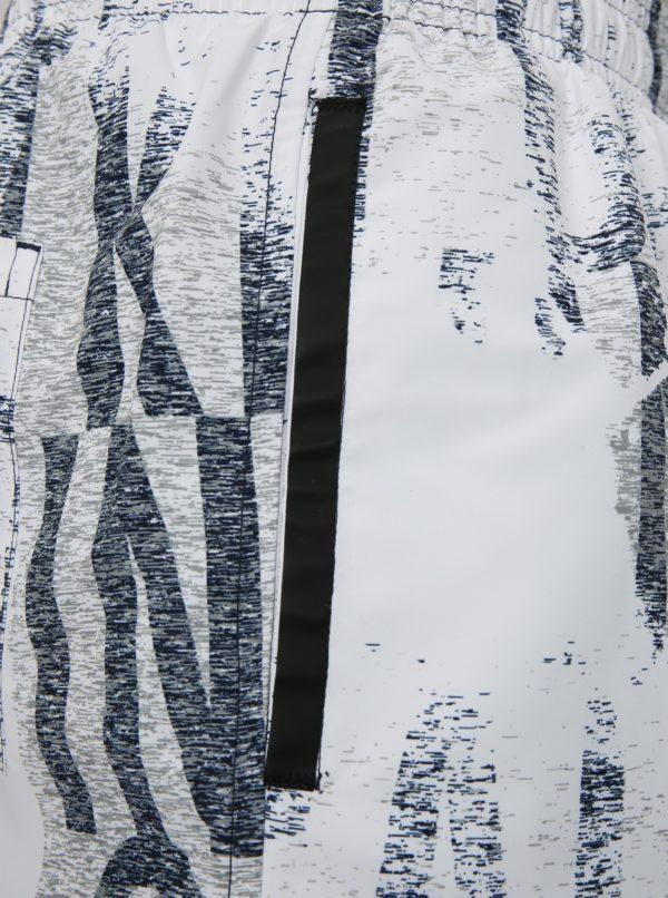 Biele pánske vzorované plavky Calvin Klein Underwear