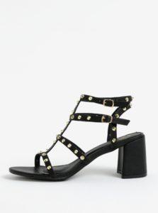 Čierne sandále s aplikáciou v zlatej farbe MISSGUIDED