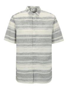 Sivo-krémová pruhovaná košeľa Burton Menswear London
