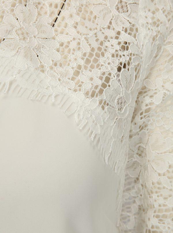 Biela blúzka s 3/4 rukávom a čipkou Dorothy Perkins