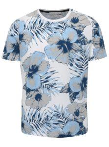 Modro-biele kvetované tričko Selected Homme Flower