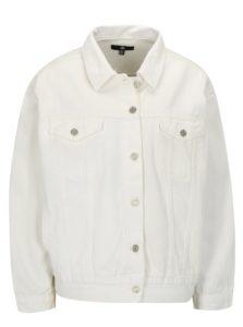 Biela rifľová oversize bunda MISSGUIDED